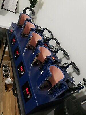 Joto 5 Station Mug Sublimation Heat Press 11oz 15oz Digital Transfer Machine