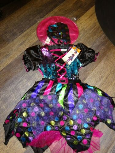 youth girls Halloween costume ~  sequin WITCH ~ large 10-12