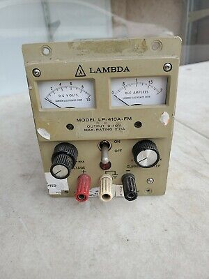 Lambda Lp-410a-fm Power Supply 0-10v 0-2a