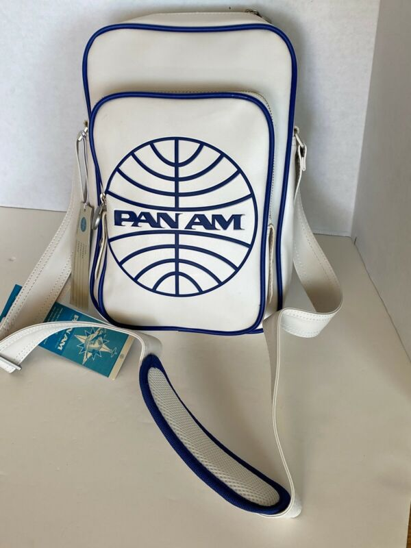 """PAN AM  """"Malay Reloaded"""" Bag Originals Certified Vintage Style Pan Am White"""