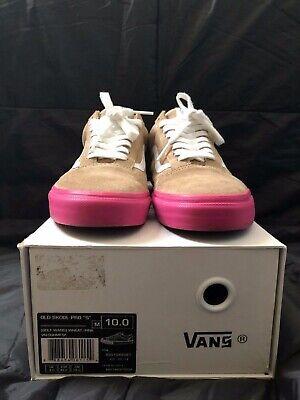 """Vans Syndicate Old Skool Pro """"S"""" Golf Wang Wheat/Pink US10 UK 9.0 EUR 43.0 CM 28"""