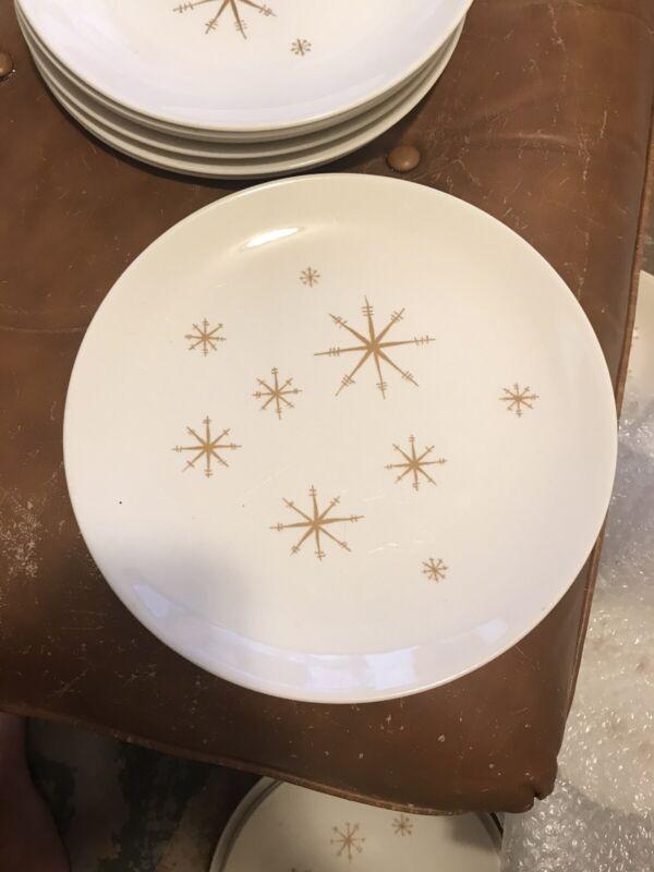 VTG Star Glow Dinner Plates Royal China, Mid-Century Modern Atomic