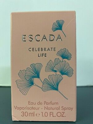 Escada Celebrate Life EDP Perfume Spray 1 oz/30 ml. New bottle in box. Fragrance 1 Oz Spray Bottle