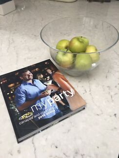 Fruit or serving bowl and recipe book
