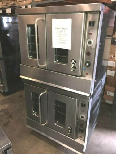 Montague Double Stack Convection Oven Model 2-115A-G