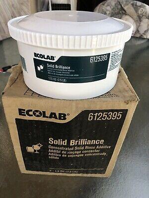 Ecolab Solid Brillance 6125395 Dishwasher Rince Aid 62022