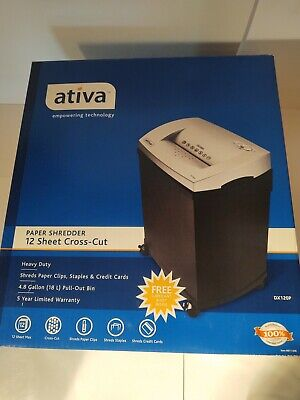 Ativa 12 Sheet Cross-cut Paper Shredder