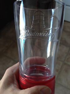 Budweiser beer  goal light beer glass.
