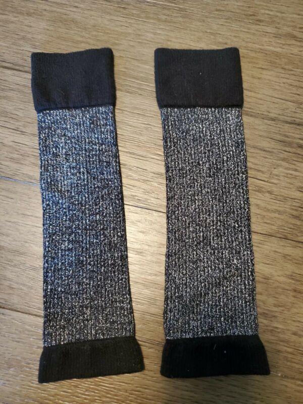 Danskin Freestyle Girls Leg Warmers Dance Black Knit One Size