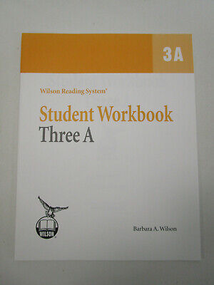 Wilson Reading System WRS Student Workbook 3A Wilson Home school dyslexia