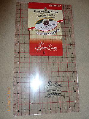 "SewEasy Lasercut Patchwork Quilt Ruler-12""X6.5"", NEW ORIGINAL"