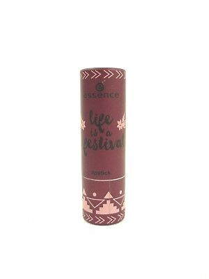 essence life is a festival Lippenstift 01 good vibes only! dunkelrot beerenfarbe
