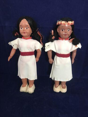 2 Vintage Souvenir Native American Dolls - $21.00