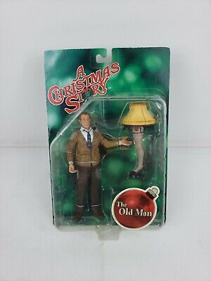 "A Christmas Story ""Old Man w/ Lamp"" Action Figure Licensed NECA NEW in Pkg"