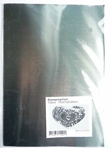 10 x A5 size sheets of silver Stamping Foil  Embossing Craft Metal
