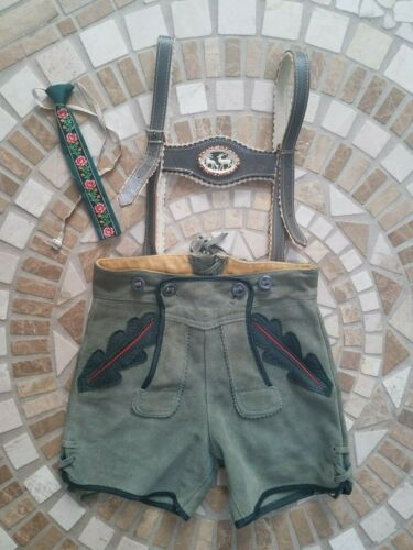 Authentic Vintage late 60s German Youth Lederhosen