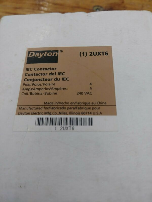 Dayton 2UXT6 IEC contactor
