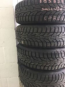 185/65 R15, 4 SAILUN ICEBLAZER winter tires with rims, 11/32