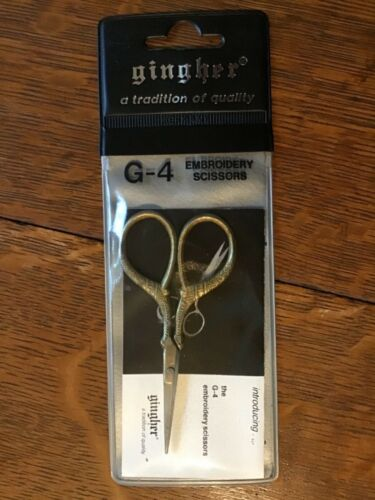 Vintage Gingher Embroidery Scissors G-4