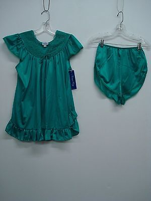 USA Made Nancy King Lingerie Baby Doll w/ Tap Pant Sleepwear Small Emerald #685Q](Adult Baby Lingerie)