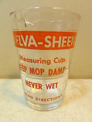 VINTAGE VELVA-SHEEN GLASS MEASURING CUP 4 OZ. (Glasses Size Measurement)