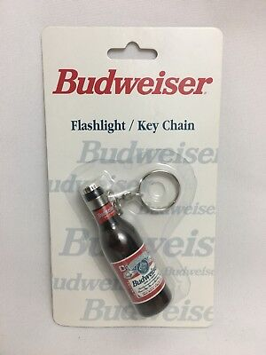 Budweiser Flashlight/key Chain-Powered By A Replaceable Type N Battery -