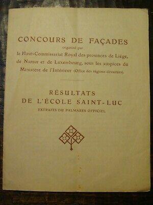 Concours de façades - Résultats de l'Ecole Saint-Luc - 1919 - LIEGE
