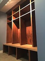 Built ins and custom shelving solutions