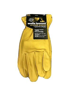 Mens Wells Lamont Leather Work Gloves All Purpose Size 8 Medium F1c