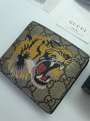 Gucci Tiger Wallet 100% Genuine! Boxed Complete