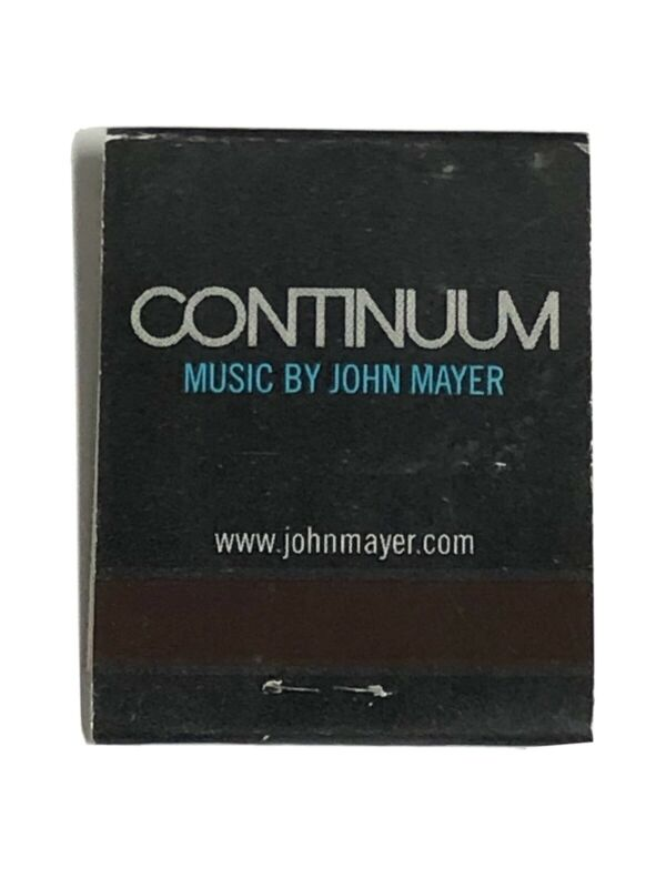 John Mayer Continuum Promo Matchbook Unused New Rare Guitar Blues Record Store