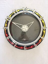 Sterling And Noble Hot Rod Flames Wall Clock (Working)