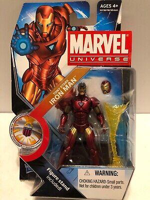 "2011 HASBRO MARVEL UNIVERSE 3 3/4"" Tony Stark Iron Man Series 3 #022, FIGURE MOC"