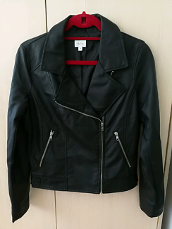 Lily Loves pu leather jacket sz 12 nwot