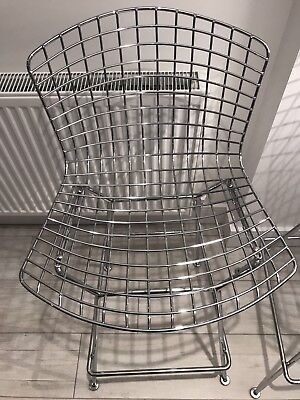 Super Genuine Knoll Bertoia Chrome Wire Bar Stool Excellent Used Condition x