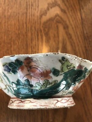 Old China Antique Octagonal Porcelain Bowl
