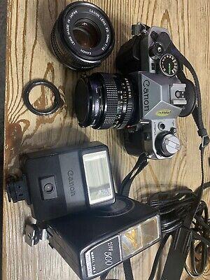 Canon AE-1 Program Camera w/ Extra lens,Carry Case,original manuals, accesories