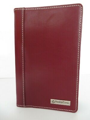 Pocket Franklin Covey Dark Red Leather 58- Rings Open Plannerbinder