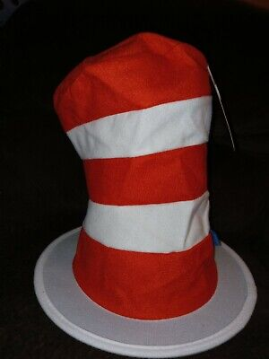 "Kids Dr. Seuss Cat in the Hat Top Hat, Halloween Costume 9 1/2"" H Hat only"