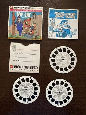 GAF View-Master B513 Top Cat Cartoon Favorites Hanna Barbera 3 Reel Set