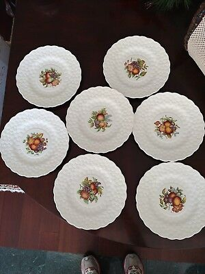 7 Copeland Spode made in England ceramic luncheon plates. 8 plus inches. Spode Ceramic Plates