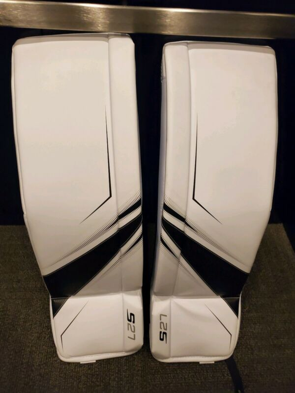 Bauer Sr Goalie Leg Pads XL S27 were used in commercial never game used Zion