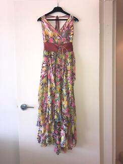 Colourful Silk Dress suitable for semi-formal or wedding