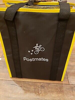 Postmates Insulated Food Delivery Tote Bag Wzipper New Free Shipping