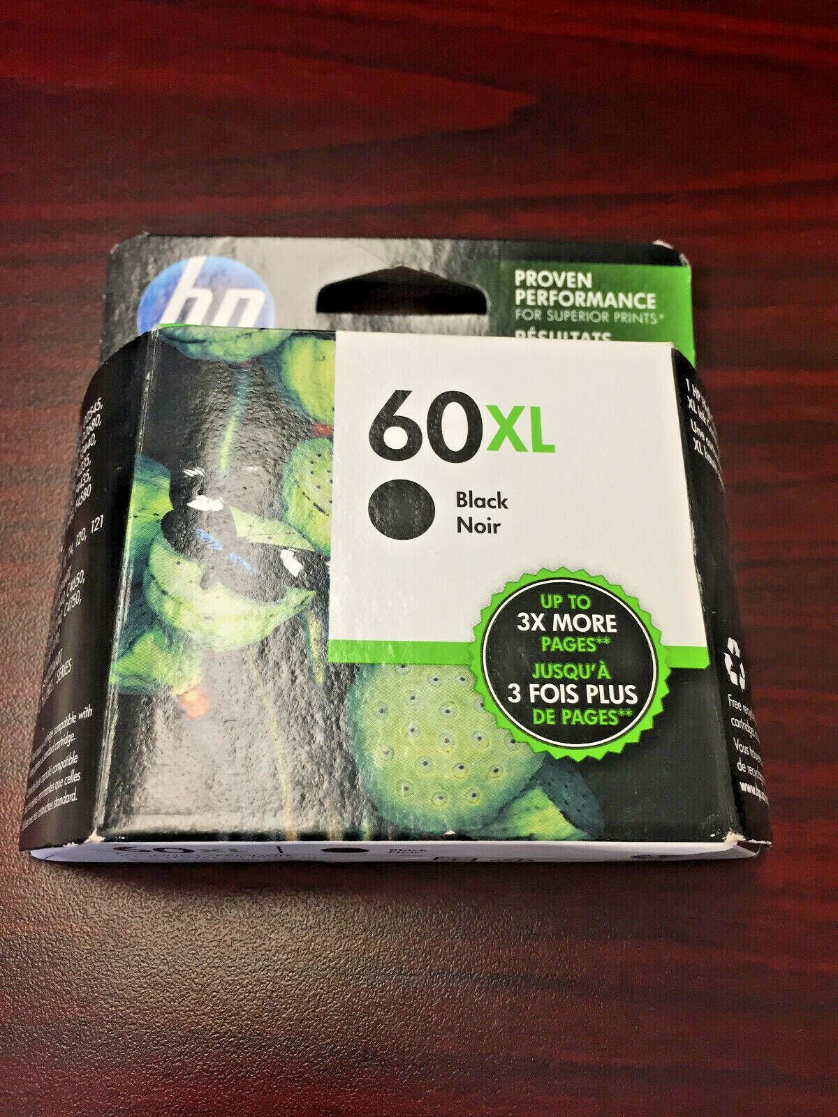 1pk New Genuine HP 60XL CC641WN Black Original High Yield In