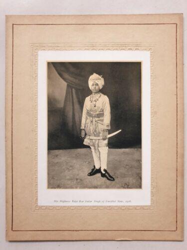 1926 India Vintage Print RAJA HAR INDAR SINGH, FARIDKOT STATE 4.75in x 6.50in