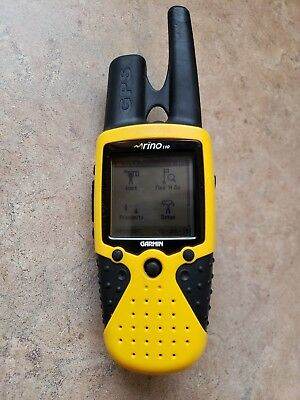 Garmin Rino 110 GPS Yellow Hand Held Portable Satellite Hiking Camping