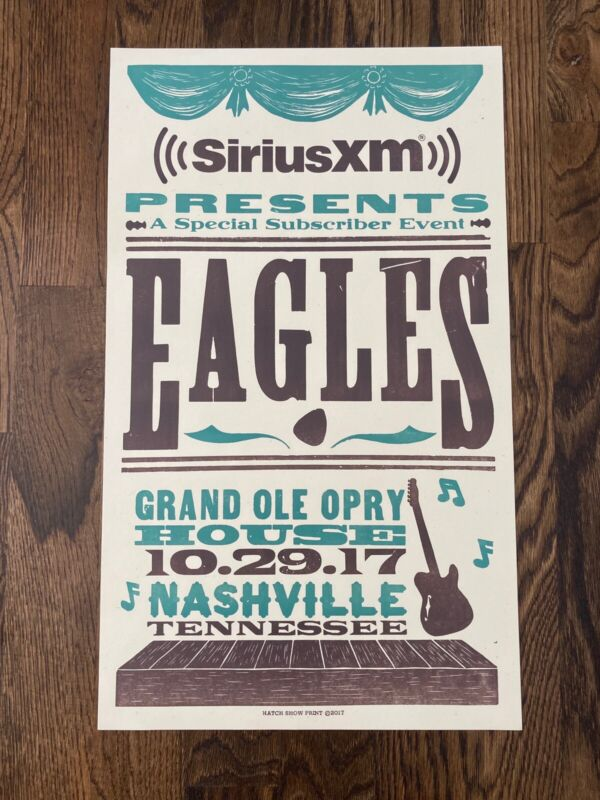 Eagles Poster Nashville Grand Ole Opry New Hatch Show Print