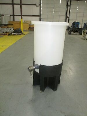 Chem-tainer 30 Gallon Cylindrical Cone Bottom Tank W Poly Stand - Tc1840ap