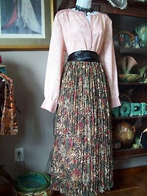 4 pc 1900's Victorian Costume L Music Man Skirt, New Blouse Choker Sash